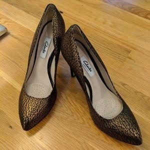Clarks Narrative Metallic Women's Heels